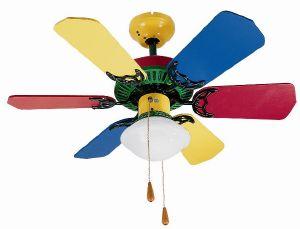 Ventilador de techo dise o infantil de 6 palas multicolor - Ventiladores techo infantiles ...