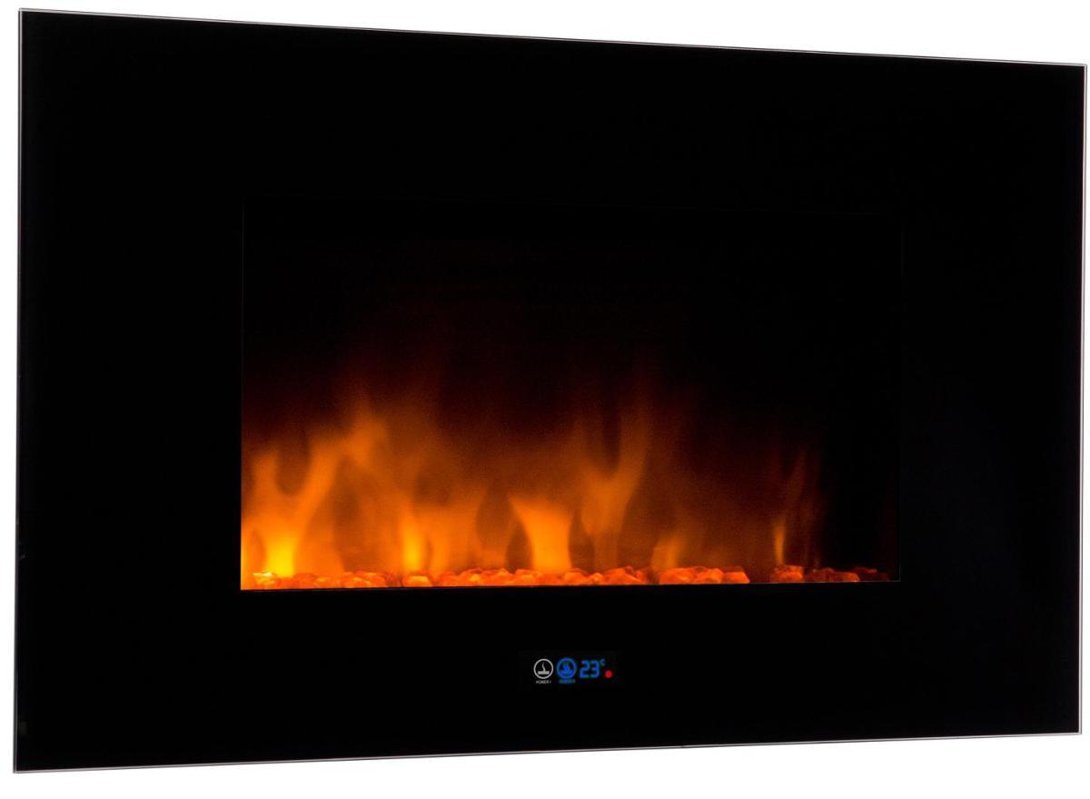 Chimenea electrica de dise o moderno con efecto fuego y termostato - Radiateur electrique imitation feu cheminee ...