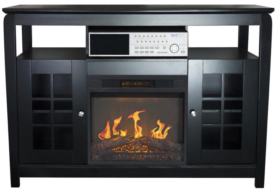 Mueble 2 puertas y chimenea el ctrica calefactor cl 148 - Chimenea electrica mueble ...