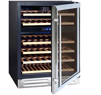 Vinoteca 2 temperaturas para 45 botellas - Vinoteca 2 temperaturas ...