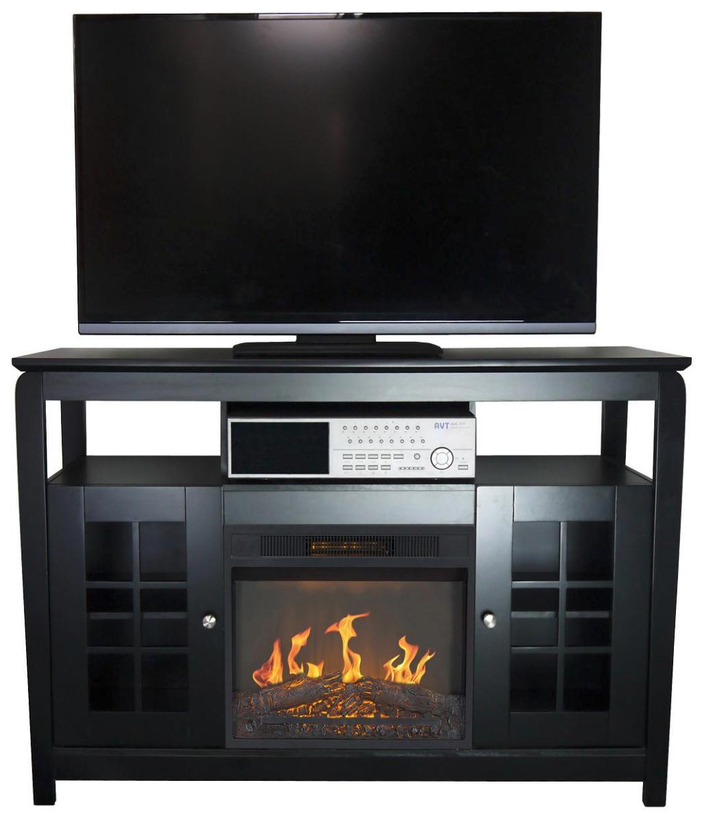 Mueble 2 puertas y chimenea el ctrica calefactor cl 148 - Mueble para chimenea electrica ...