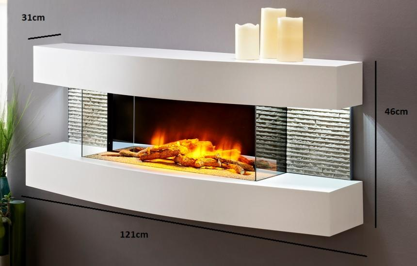 Chimenea el ctrica efecto llama ultra realista lounge - Accesorios para chimeneas decorativas ...