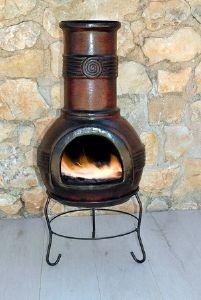 chimenea de exterior modelo chapala de 90 cm